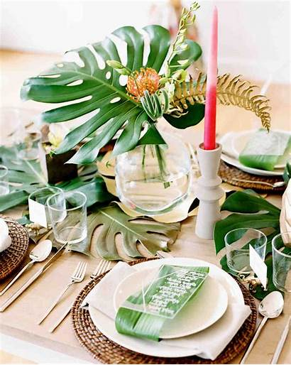 Bridal Shower Centerpieces Bride Tables Rose Tropical