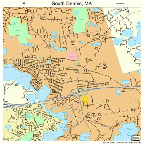 Dennis Ma by South Dennis Massachusetts Map 2563655