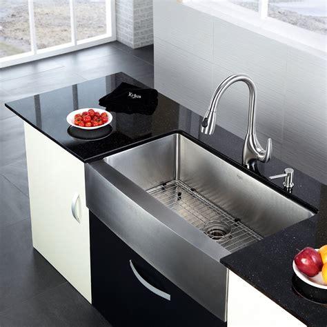 kraus 35 88 quot 20 75 quot farmhouse kitchen sink reviews wayfair