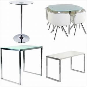 Petite Table En Verre : table de cuisine en verre petite table de salon pas cher maisonjoffrois ~ Teatrodelosmanantiales.com Idées de Décoration