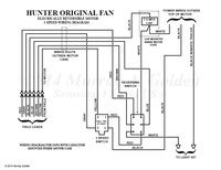here s a hunter original fan wiring diagram vintage