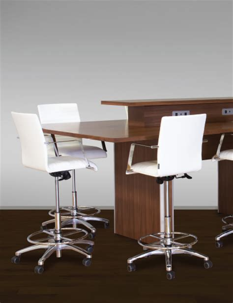 white chrome drafting chairs ambience dor 233