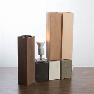 Petite Table Lamp (Concrete Base with Wood Veneer Shade