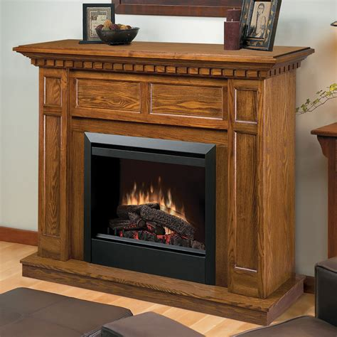 caprice oak electric fireplace mantel package dfpo