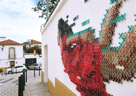Cross-stitch Murals Bring A Traditionally Domestic Craft