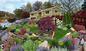 1001 idees et conseils pour amenager une rocaille fleurie With exemple de jardin de maison