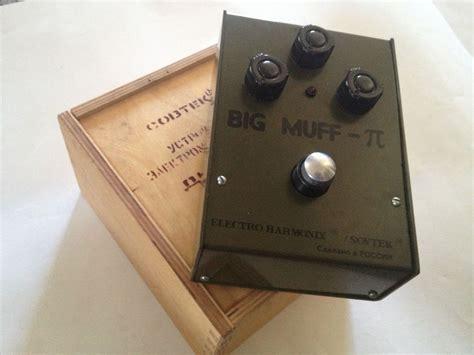 minty big fuzz pi bubble font sovtek ehx pedal russian made w box pedals guitar