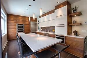 comptoir de cuisine en bois franc wrastecom With meuble ilot central cuisine 4 comptoir grand ilat central style indus metal bois