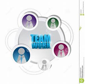 Business Teamwork Diagram Support Cycle  Royalty Free