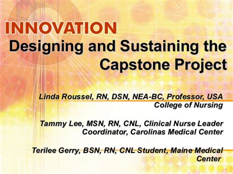 designing  sustaining  capstone project
