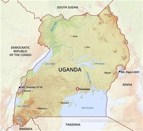 map  africa showing uganda picturetomorrow