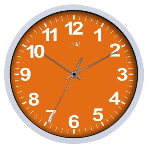 designer kitchen clocks designer orange white modern contemporary large wall 3231