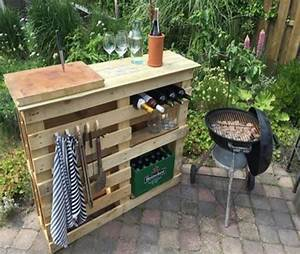 diy bbq side table with pallets pallet ideas recycled With exceptional amenagement de terrasse exterieur 12 candy bar