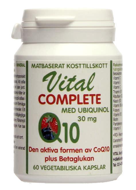 vital complete med aktiva coenzym q10 ubiquinol