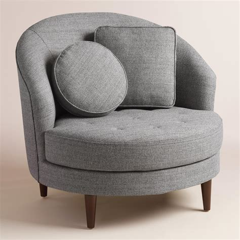 gray chair with ottoman gray round seren chair and a half world market
