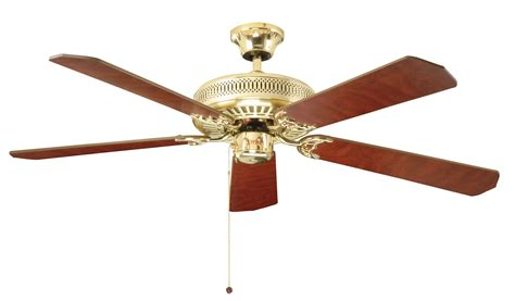 classic ceiling fans with lights fantasia classic 52 polished brass ceiling fan 110019