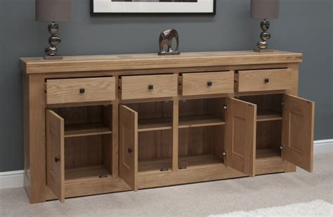 Large Sideboard Oak by Belgrave Solid Premium Oak Dining Room Furniture