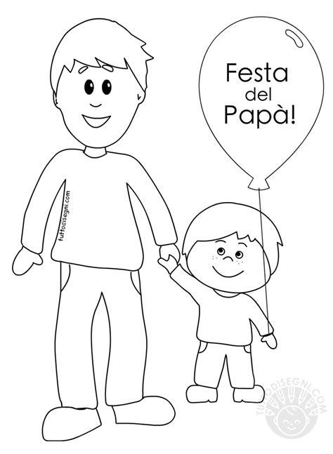 padre  figlio disegni  la festa del papa da colorare