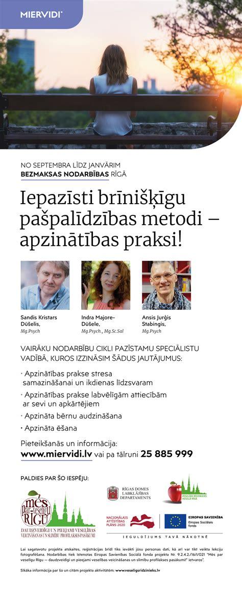 Rīgas iedzīvotājiem būs pieejamas bezmaksas nodarbības ...