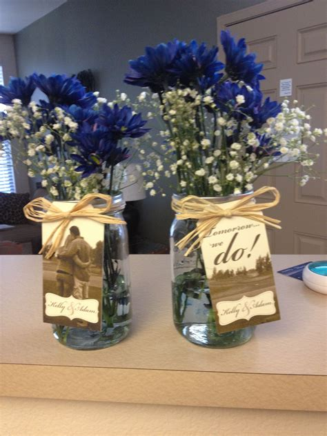 wedding decorations for rehearsal dinner adorable small centerpieces for the rehearsal dinner jars twine baby s breath and