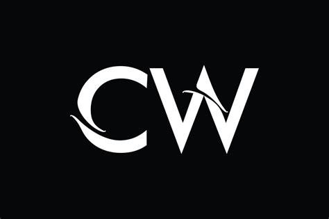 cw monogram logo design  vectorseller thehungryjpegcom