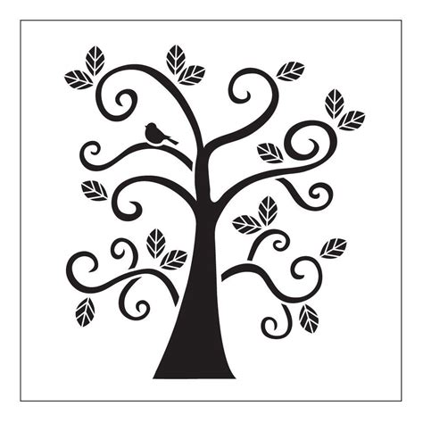 folkart curly tree small painting stencils 30610 the home depot