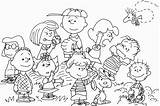 Coloring Peanuts Pages Thanksgiving Characters Peanut Template Coloringhome sketch template