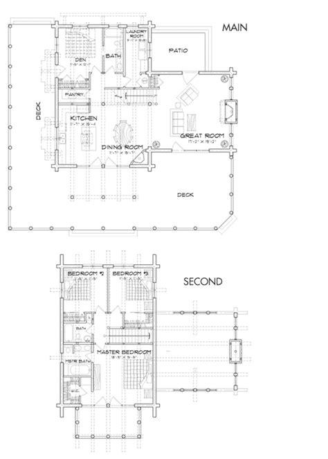 timber ridge log home floor plan