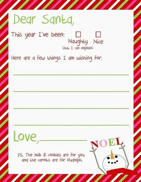 printable letters  santa