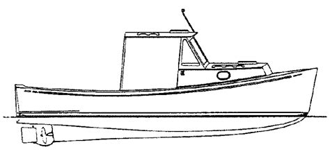 Boat Drawing Outline by Commercial Fishing Boat Drawing Clipart Panda Free
