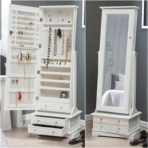 Large Mirror Jewelry Armoire by 25 Beautiful Length Jewelry Armoires Zen Merchandiser