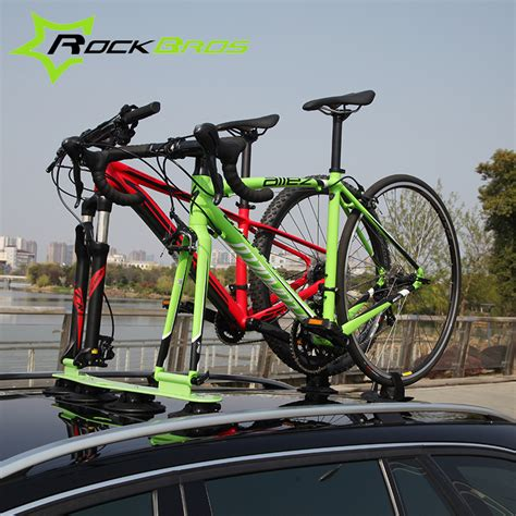 suv bike rack rockbros treefrog sustion cup roof rack for two bike jeep