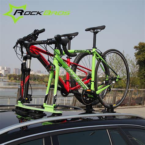 bike racks for suvs rockbros treefrog sustion cup roof rack for two bike jeep