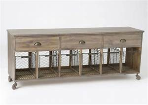 Meuble A Panier : meuble en bois paniers grillage et tiroirs ~ Teatrodelosmanantiales.com Idées de Décoration