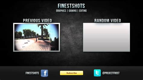 youtube video outro template psd file included youtube