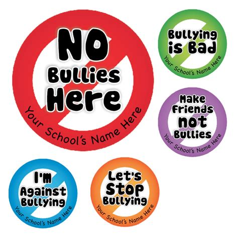 water bottle pack against bullying stickers for schools and teachers
