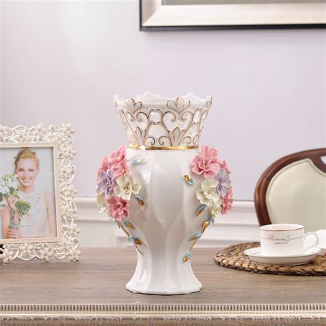 vases decor for home ceramic white modern flowers vase home decor large floor vases for weeding decoration