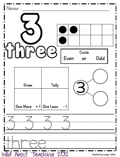 wild  teaching numbers   freebie worksheets teaching