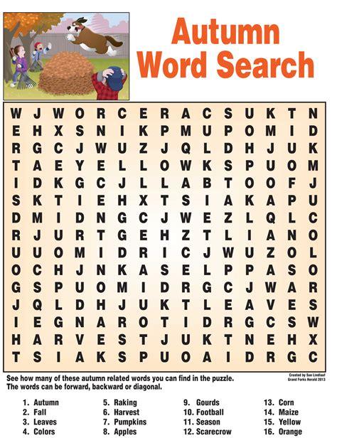 autumn word search nie rocks