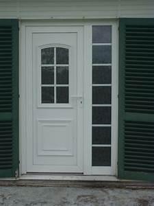 porte d39entree tiercee en pvc avec panneau decoratif With porte d entrée tiercée
