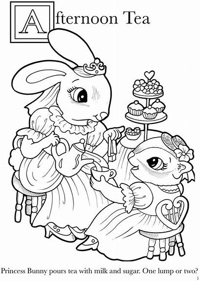 Coloring Pages Dover Animal Abc Princesses Publications