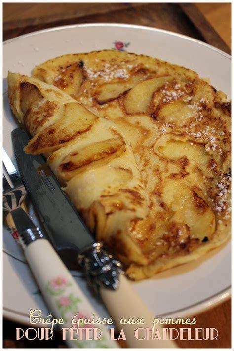 cuisine mariotte crêpe épaisse aux pommes pour la chandeleur recette de
