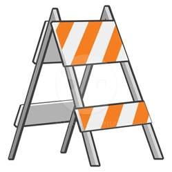 Road Construction Signs Clip Art Block