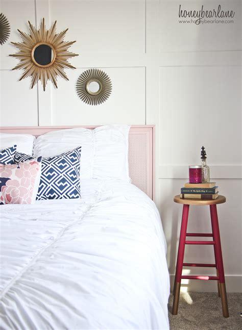 navy  pink guest room reveal honeybear lane