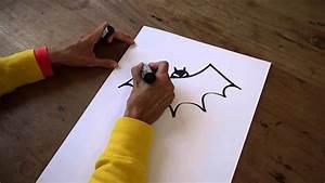Wie Verputze Ich Eine Wand : wie zeichne ich eine fledermaus und eine spinne f r ~ Michelbontemps.com Haus und Dekorationen