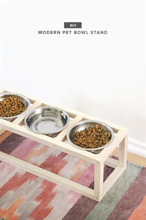 diy modern pet bowl stand   perfect