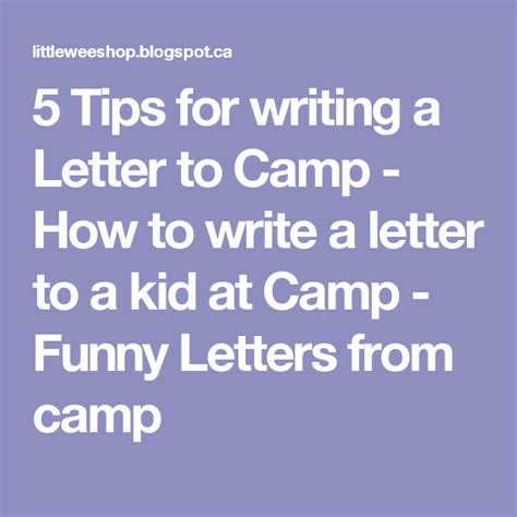 tips  writing  letter  camp   write