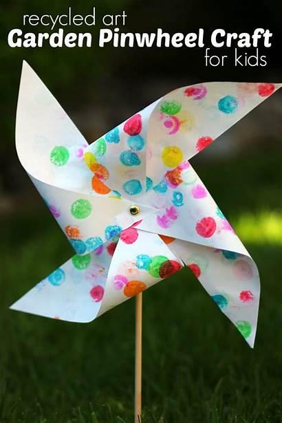Craft Garden Pinwheel Preschool Recycled Crafts Projects