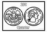 Coloring Money Kindergarten Printable Coins Cool2bkids Coin Geld Worksheets Template Malvorlagen Ausmalbilder Learning sketch template
