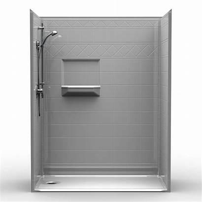 Barrier Shower Tile Diamond Showers Five Piece